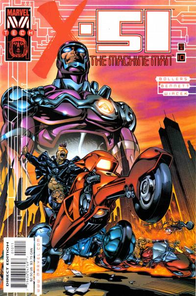 Cover for X-51 (Marvel, 1999 series) #10 [Direct Edition]