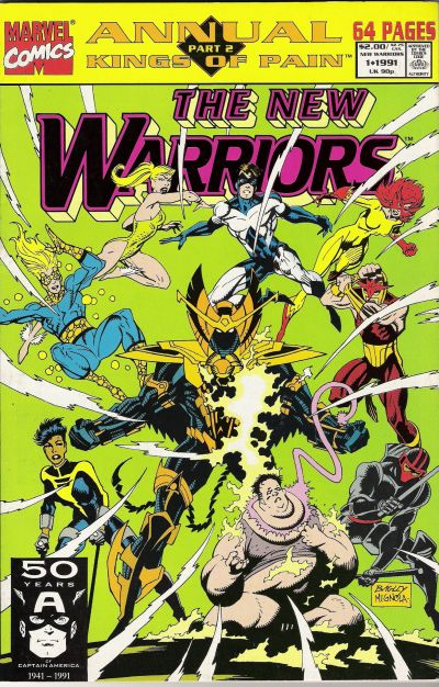 Cover for The New Warriors Annual (Marvel, 1991 series) #1