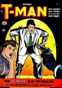 Cover Thumbnail for T-Man (Quality Comics, 1951 series) #1