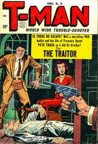 Cover Thumbnail for T-Man (Quality Comics, 1951 series) #15