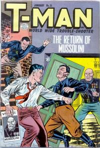 Cover Thumbnail for T-Man (Quality Comics, 1951 series) #21