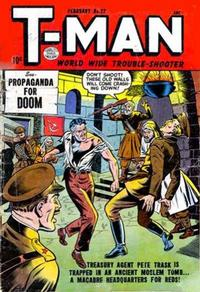 Cover Thumbnail for T-Man (Quality Comics, 1951 series) #22