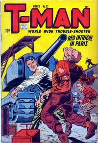 Cover Thumbnail for T-Man (Quality Comics, 1951 series) #23