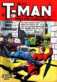 Cover Thumbnail for T-Man (Quality Comics, 1951 series) #24