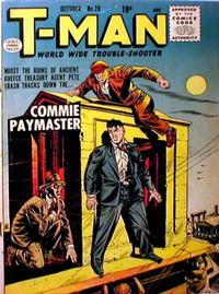 Cover Thumbnail for T-Man (Quality Comics, 1951 series) #28