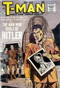 Cover Thumbnail for T-Man (Quality Comics, 1951 series) #34