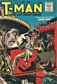 Cover Thumbnail for T-Man (Quality Comics, 1951 series) #36