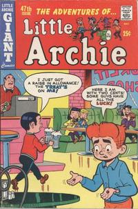 Cover for The Adventures of Little Archie (Archie, 1961 series) #47