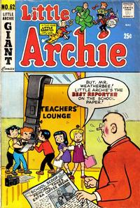 Cover Thumbnail for Little Archie (Archie, 1969 series) #62