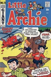Cover Thumbnail for Little Archie (Archie, 1969 series) #72
