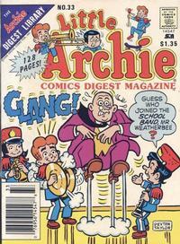 Cover Thumbnail for Little Archie Comics Digest Magazine (Archie, 1985 series) #33