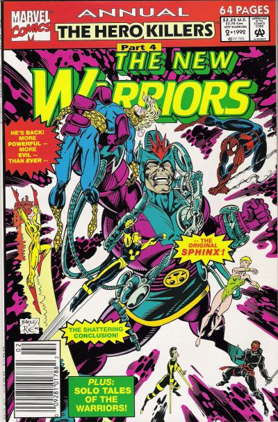 Cover for The New Warriors Annual (Marvel, 1991 series) #2 [Direct]