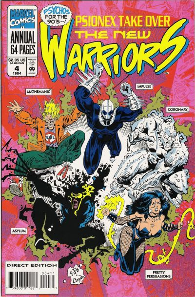 Cover for The New Warriors Annual (Marvel, 1991 series) #4
