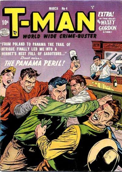 Cover for T-Man (Quality Comics, 1951 series) #4