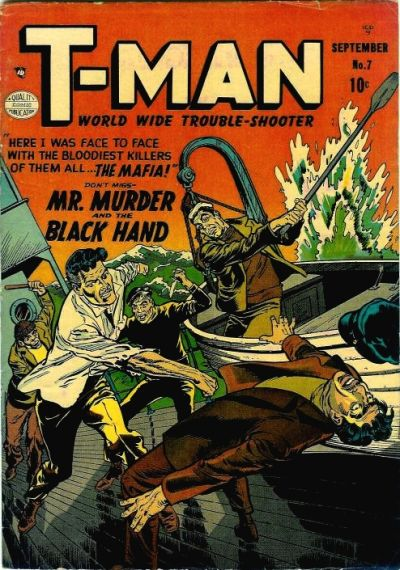 Cover for T-Man (Quality Comics, 1951 series) #7