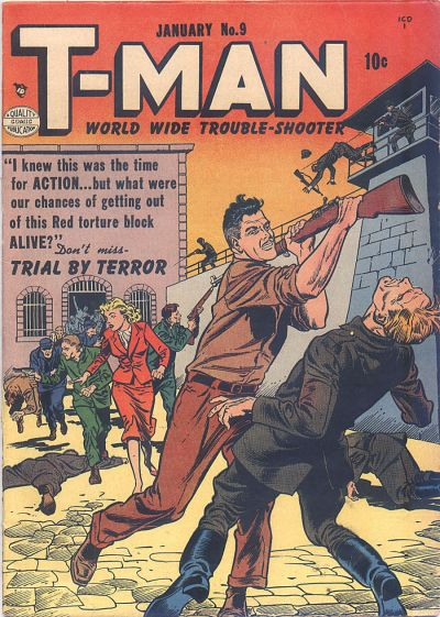 Cover for T-Man (Quality Comics, 1951 series) #9