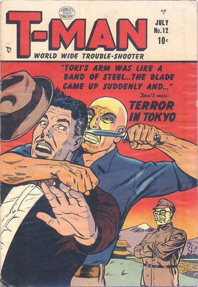 Cover for T-Man (Quality Comics, 1951 series) #12