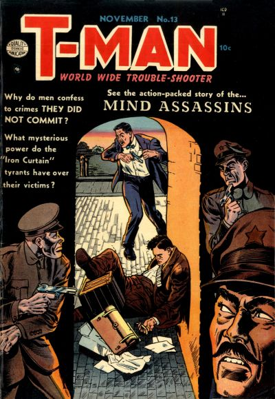 Cover for T-Man (Quality Comics, 1951 series) #13