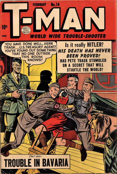 Cover for T-Man (Quality Comics, 1951 series) #14
