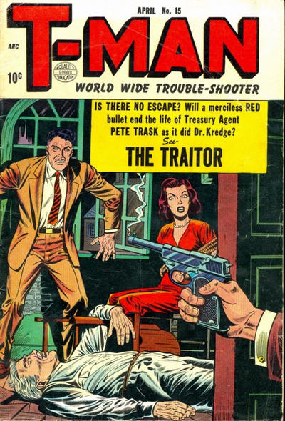Cover for T-Man (Quality Comics, 1951 series) #15