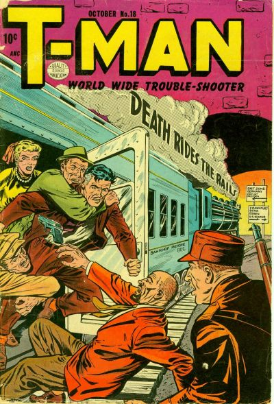 Cover for T-Man (Quality Comics, 1951 series) #18