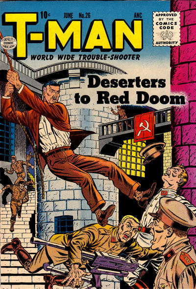 Cover for T-Man (Quality Comics, 1951 series) #26