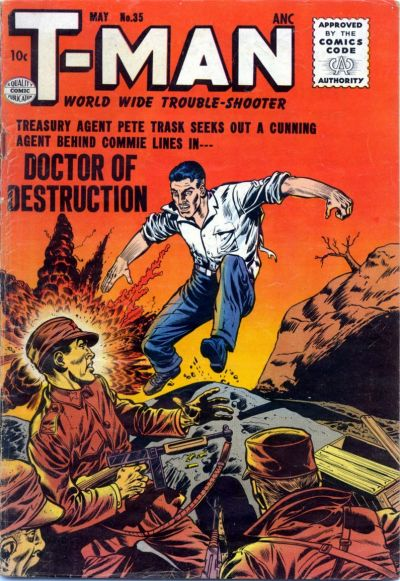 Cover for T-Man (Quality Comics, 1951 series) #35