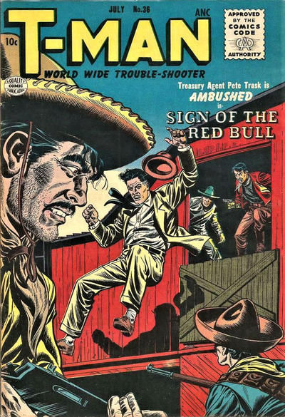 Cover for T-Man (Quality Comics, 1951 series) #36