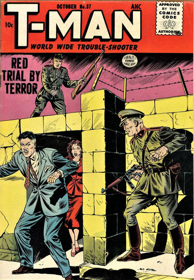 Cover for T-Man (Quality Comics, 1951 series) #37
