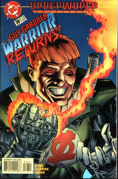 Cover for Guy Gardner: Warrior (DC, 1994 series) #36