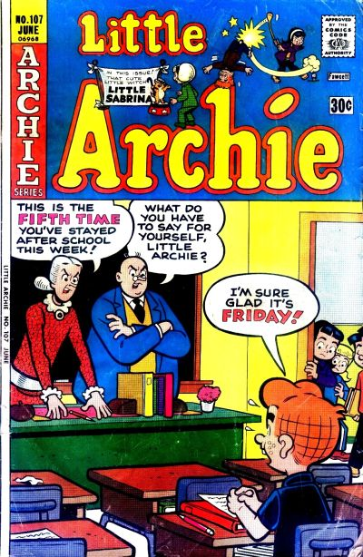 Cover for Little Archie (Archie, 1969 series) #107