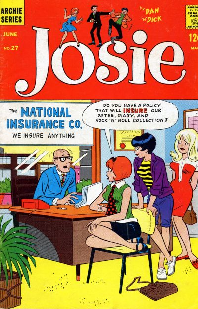 Cover for Josie (Archie, 1965 series) #27