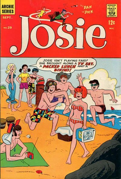 Cover for Josie (Archie, 1965 series) #29