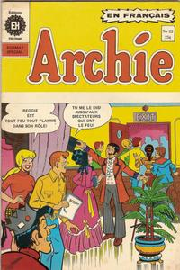 Cover Thumbnail for Archie (Editions Héritage, 1971 series) #22