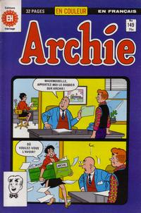 Cover Thumbnail for Archie (Editions Héritage, 1971 series) #149