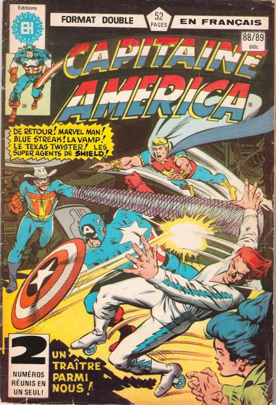 Cover for Capitaine America (Editions Héritage, 1970 series) #88/89