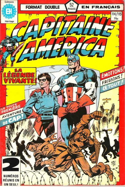 Cover for Capitaine America (Editions Héritage, 1970 series) #114/115