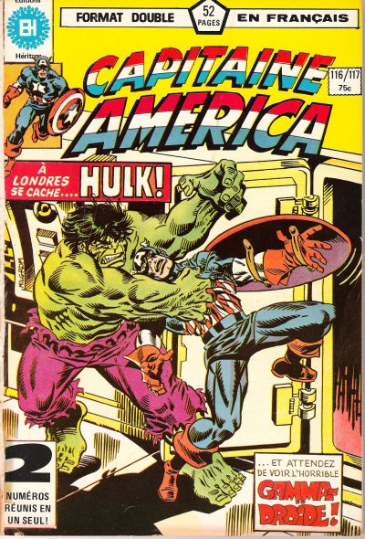 Cover for Capitaine America (Editions Héritage, 1970 series) #116/117