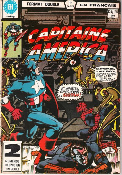 Cover for Capitaine America (Editions Héritage, 1970 series) #124/125