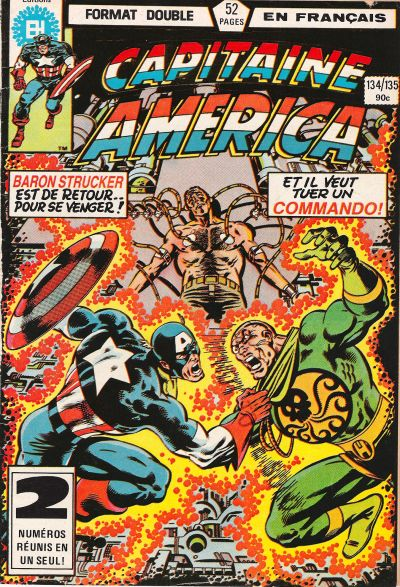 Cover for Capitaine America (Editions Héritage, 1970 series) #134/135
