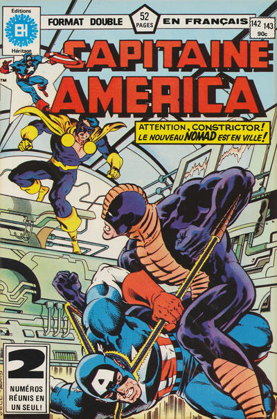 Cover for Capitaine America (Editions Héritage, 1970 series) #142/143