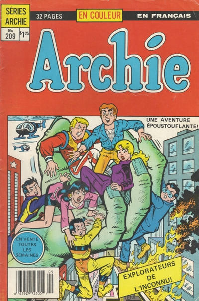 Cover for Archie (Editions Héritage, 1971 series) #209
