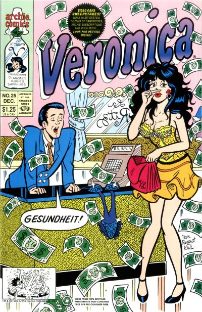 Cover for Veronica (Archie, 1989 series) #25 [Direct]