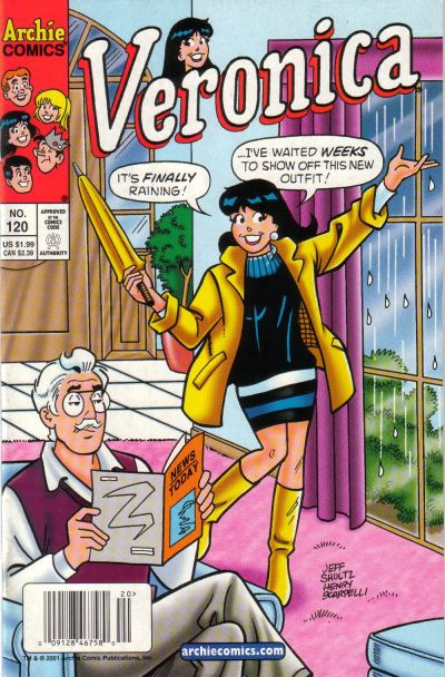 Cover for Veronica (Archie, 1989 series) #120 [Newsstand]