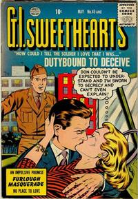 Cover Thumbnail for G.I. Sweethearts (Quality Comics, 1953 series) #45