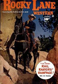 Cover Thumbnail for Rocky Lane Western (Fawcett, 1949 series) #4