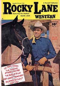 Cover Thumbnail for Rocky Lane Western (Fawcett, 1949 series) #5