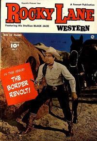 Cover Thumbnail for Rocky Lane Western (Fawcett, 1949 series) #7