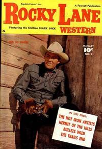 Cover Thumbnail for Rocky Lane Western (Fawcett, 1949 series) #9
