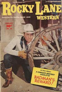 Cover Thumbnail for Rocky Lane Western (Fawcett, 1949 series) #10